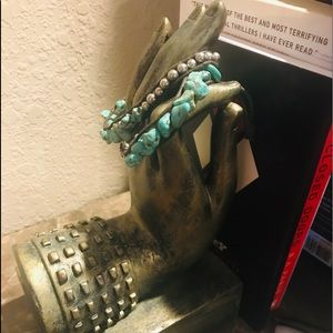 Leather Adjustable Bracelet with Beautiful Stones